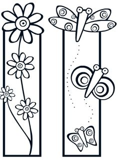 Bookmarks to cut and color (kids) Colouring Pages, Adult Coloring Pages, Coloring Sheets, Coloring Books, Paper Art, Paper Crafts, Crafts For Kids, Arts And Crafts, Book Markers