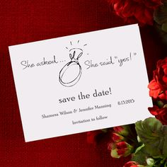 Save The Date Card for Lesbian Proposal