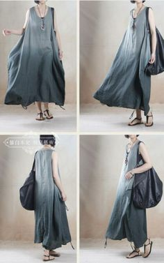 Summer mori. I love grey dresses; they are like the less severe, more mysterious alternative to a black dress. This long, simple dress has an enchanting moonish quality.
