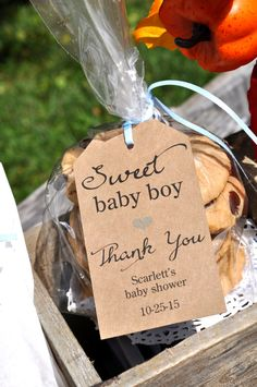 Rustic Baby Shower Favor Tags Sweet Baby Boy by sosweetpartyshop