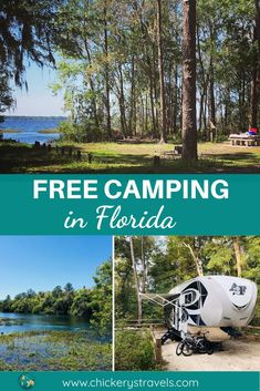 Free Camping in Florida - Chickery's Travels Learn about all the opportunities for free camping in Florida. This includes dry camping on public and private lands for both tent and RV campers. Florida Camping, Florida Travel, Travel Usa, Travel Tips, Travel Ideas, Florida Vacation, Florida Keys, Budget Travel, Rv Camping Tips