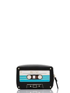 designed to look like an old-school mixtape, this little zip-top case is the perfect place to stash your spare change.