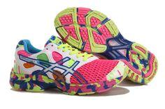 Asics Gel Noosa Tri 7 Women's Running Shoes Pink White Volt Blue