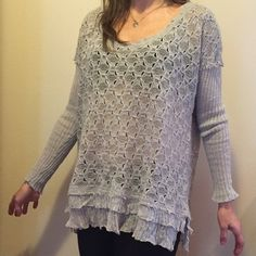 Free People Sweater Super cute Free People sweater size Large - no Trades please Free People Sweaters