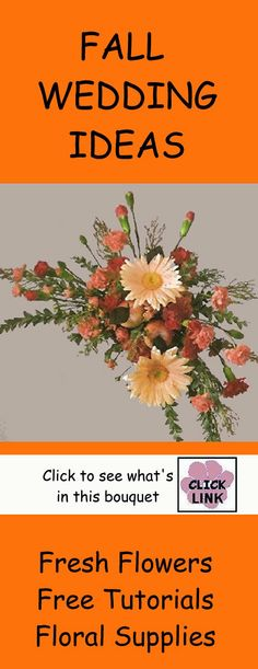 Fall Wedding Ideas - Autumn Weddings - check out different bridal bouquets.  Free flower tutorials.