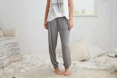 Aerie Real Soft® Harem Pant by Aerie for American Eagle Outfitters   Real Soft® is our softest, comfiest, most awesome feeling fabric. It fits