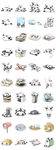Tare panda stickers