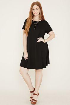 Plus Size A-Line Dress - $17.90