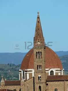 View from the roof of the Dome of Cappelle Medicee and bel tower of Santa Maria Novella, Florence, Italy