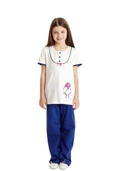 Dagi Kuş Baskılı Kk 0 Patlı Pijama Tk 1331   Icgiyimozel.com