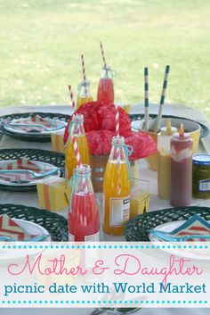 Mother & Daughter Picnic Date with Cost Plus World Market - The Crafted Sparrow >> #WorldMarket Mother's Day