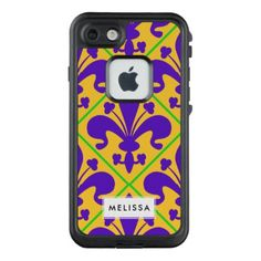 Mardi Gras Party New Orleans Fleur de Lis LifeProof FRĒ iPhone 7 Case - party gifts gift ideas diy customize