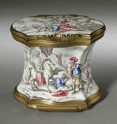 Double Snuff Box Germany, Dresden, circa 1750 Tools and Equipment; boxes