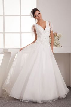 Shop affordable Plunged Tulle A-Line Gown with Pleats and Crystal Detailing at June Bridals! Over 8000 Chic wedding, bridesmaid, prom dresses & more are on hot sale. V Neck Wedding Dress, Cheap Wedding Dress, One Shoulder Wedding Dress, Wedding Gowns, Dress P, Party Dress, Dress Lace, Chic Wedding, Wedding Stuff