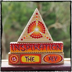 Inner Child Inspiration Blocks painted wood by ElspethMcLean, $35.00