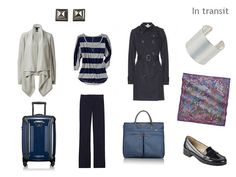 The Vivienne Files: A Travel Capsule Wardrobe - Packing for uncertain weather in navy, grey & purple