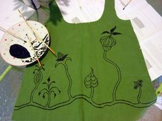 no big dill: Flora, Fabric, and Paint