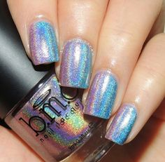 Holographic gradient nail art using Bundle Monster nail polishes