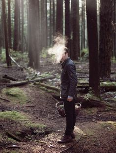 grantharder:  Foraging for mushrooms with Tyler Gray for...