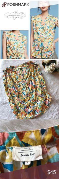 Anthropologie Brooklyn Danielle Kroll Top This top is in excellent condition!  Worn once!  Size large  Pit to pit is approx 25 inches  Length is approx 27.5 inches  All measurements are from flat lays  Smoke and pet free home! No flaws like stains or holes! No modeling No trades! Anthropologie Tops