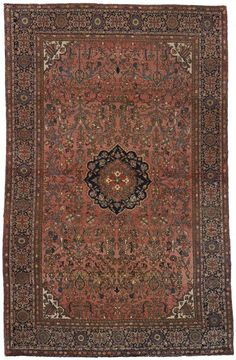 "Fereghan Sarouk 4' x 6'4"" Circa 1900 Central Persia Ref no. 47 {rugs, carpets, traditional, home collection, decor, warp & weft}"