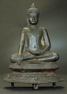 "BUDDHA 13th Century Thailand Bronze, 7-3/4 Inches Tall Rare Utong ""A""- superb example"