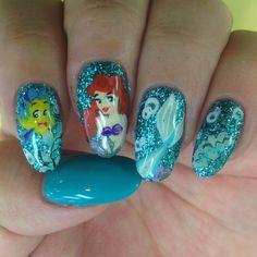 Little mermaid nails  #handpaintart