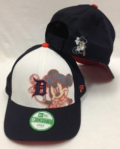 12db7224a8c New Era 9Forty Magical Illusion Detroit Tigers White   Navy Velcro Hat New  Era 9forty