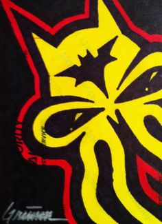 Bat Skullyfish #drawing #artist #art #slaps #stickers #labels #slaptag #graffiti #theartistgrimm #grimm #skullyfish #bat #batman #gotham #hero