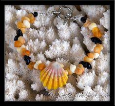 Exotica! Multi Color Mongo Shells & Hawaiian Sunrise Shell Bracelet