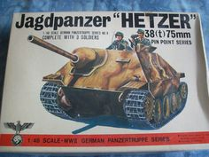 1970's Bandai 1/48 Scale Jagdpanzer (Hetzer) 38t 75mm Model by MyHillbillyWays on Etsy