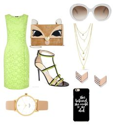 """""""🍏"""" by kenzie4ever11 on Polyvore featuring Precis Petite, Betsey Johnson, Gucci, Jimmy Choo, FOSSIL and Kate Spade"""