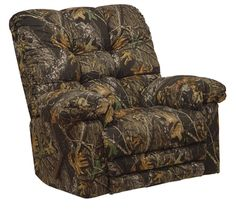 MAGNUM HEAT & MASSAGE CAMO RECLINER