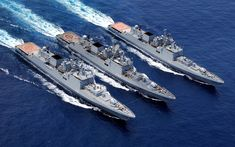 Download wallpapers INS Trikand, F51, INS Talwar, F40, INS F40 Tabar, Talwar-class frigate, Military ships, Indian frigates, Indian Navy