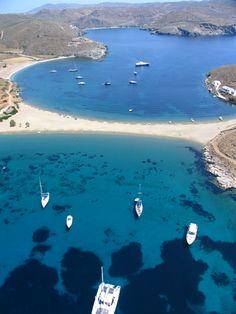 Kolona Beach in Kythnos island , Greece   www.porto-klaras.gr