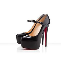 Patent leather spiked heel Maryjanes. Hot!