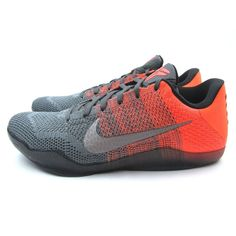 b2e05758ad2b Nike Kobe XI 11 Elite Low Easter Shoes Size 12 Grey Bright Mango 822675-078