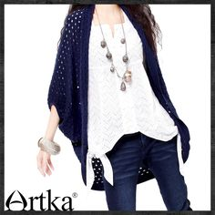 Aliexpress.com : Buy Artka Women'S Casual Plum Blossom Solid Hollow Out Loose Half Batwing Sleeve High Quality Spring Wool Cardigan Y015555C from Reliable cardigan shop suppliers on Artka.