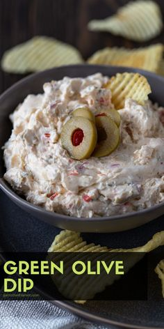 This tangy Green Olive Dip recipe is full of olives garlic and onions a quick and easy appetizer for any party menu! This tangy Green Olive Dip recipe is full of olives garlic and onions a quick and easy appetizer for any party menu! Quick And Easy Appetizers, Yummy Appetizers, Wedding Appetizers, Olive Recipes Appetizers, Appetizer Dips, Easy Appetizer Recipes, Green Olive Appetizers, Easy Party Dips, Tapas