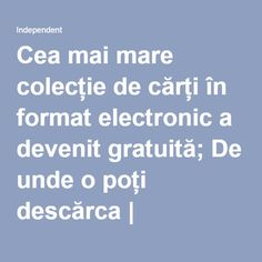 Cea mai mare colecție de cărți în format electronic a devenit gratuită; De unde o poți descărca | Independent Carti Online, Good Books, Amazing Books, Vatican, Online Business, Sola Fide, Mai, Reading, Calculator