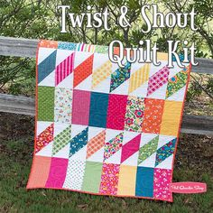 Twist & Shout Quilt KitFeaturing Best Day Ever by April Rosenthal | Fat Quarter Shop