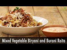 Mix Vegetable Biryani With Burani Raita | Majha Kitchen | Sanjeev Kapoor Khazana - YouTube