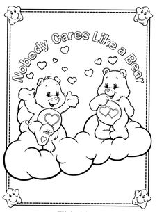 Care Bear Coloring Book Luxury Care Bears Coloring Page Embroider Bear Coloring Pages, Pattern Coloring Pages, Adult Coloring Book Pages, Coloring Pages For Girls, Coloring For Kids, Coloring Sheets, Coloring Books, Care Bear Tattoos, Brother Innovis