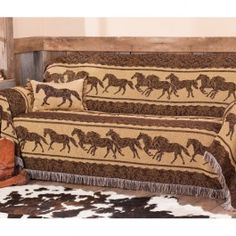 Galloping Horse Furniture Throw