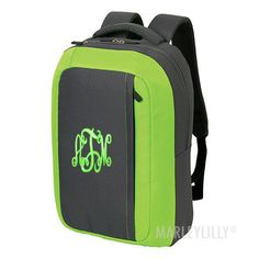 Monogrammed Computer Backpack from Marleylilly.com! #monograms #backpack #backtoschool