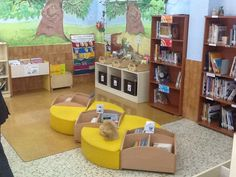 Biblioteca escolar del CEIP Jorge Guillén de Alhaurín El Grande School Library Design, Classroom Design, Library Furniture, Elementary Library, Preschool Education, Indoor Play, Primary School, Playground, Grande