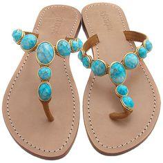 Mystique turquoise sandals