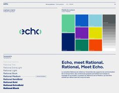 Echo, new identity designed by Paris-based Brand Brothers.