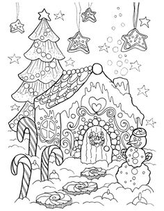 Grownup coloring books and free coloring pages Animal Coloring Pages, Coloring Pages To Print, Coloring Book Pages, Coloring Pages For Kids, Christmas Coloring Sheets, Printable Adult Coloring Pages, Christmas Drawing, Christmas Colors, Snow Globe