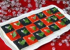 red black and white appetizers - Bing Images
